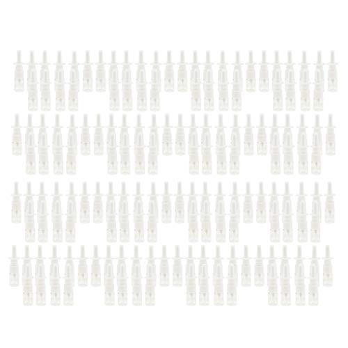 MagiDeal Lotes de 160 Botellas de Spray Nasal Recargables Vacías Portátiles para Oficina en Casa Y Viajes de 5 Ml