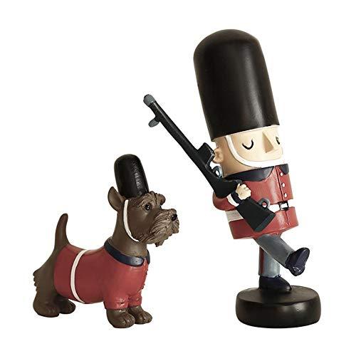 Makluce Europese en Amerikaanse notenkraker soldaat pop van hout soldaat huisdecoratie Nieuwjaar cadeau