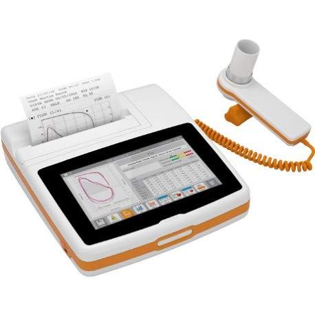 Scopri offerta per Mir Spirolab spirometro portatile con display touchscreen e stampante completo di turbina riusabile cavo usb software winspiropro borsa carica batterie rotolo carta termica
