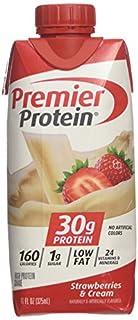 Premier Protein high Protein Shake, Strawberry Cream (11 Fl. Oz., 12 Pack) 132 Fl. Oz, 132 Ounces (B00MH5GGFO) | Amazon price tracker / tracking, Amazon price history charts, Amazon price watches, Amazon price drop alerts