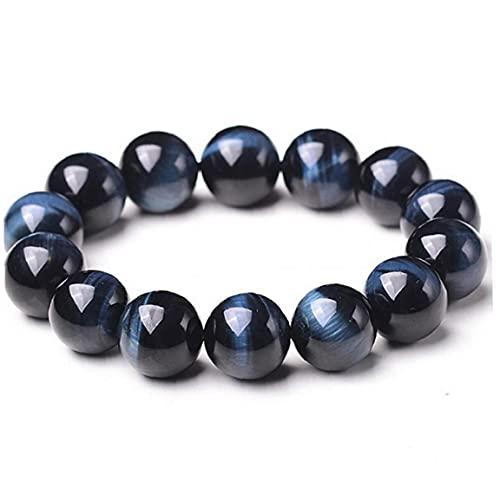 fregthf 1PC con Cuentas Pulseras de Piedra Natural 8mm joyería de Piedra Roca de la Lava Pulsera Azul del Tigre Pulsera del Ojo de Boho para Hombres y Mujeres