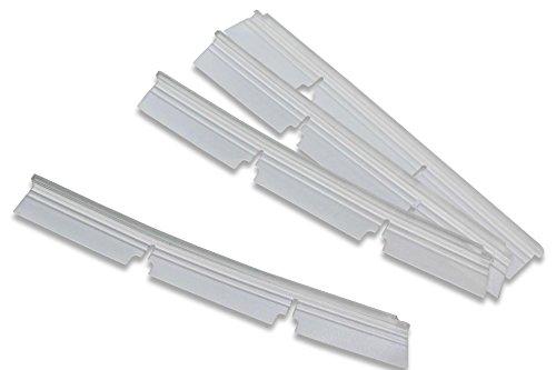 vhbw Ersatz Gummi Lippen Lamellen Set passend für Staubsauger Standard Bürste Neato Botvac 70e, 75, 80, 85, D75, D80, D85.