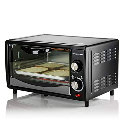 Ovente Countertop 4 Slice Capacity Convection Toaster Oven with Stainless Steel...
