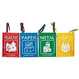 MoonWorld SR1017 - Bolsas de reciclaje para bolsas de reciclaje (4 bolsas)
