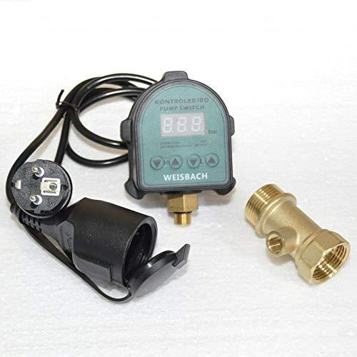 2 in 1 Elektronischer Druckschalter + Trockenlaufschutz für Hauswasserwerk WEISBACH