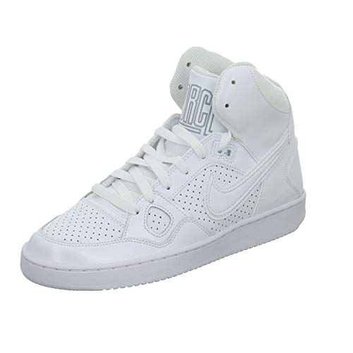 Nike Womens Son of Force Mid Trainers 616303 Sneakers Shoes (UK 6.5 US 9 EU 40.5, White Wolf Grey 110)
