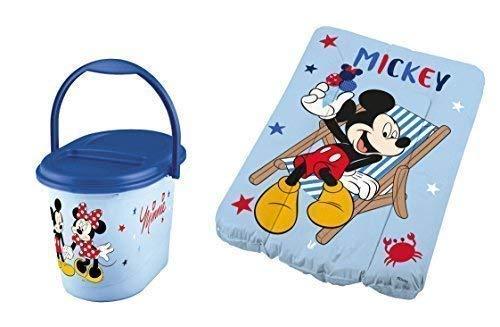 Disney Matelas à Langer 70 X 50 + Sceau à Couches Mickey Mouse Matelas à Langer Bébé Poubelle