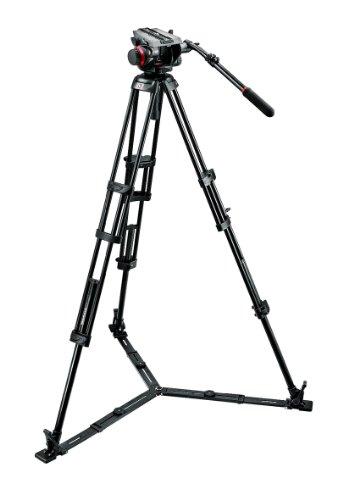 Manfrotto Stativ Kit 504HD,546GBK (inkl. Fluid-Videokopf 504HD, 546GBK Stativ mit Bodenspinne, Stativtasche)