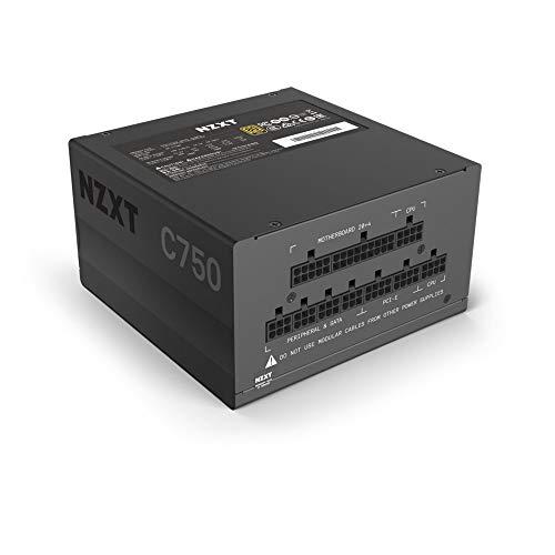 NZXT C750 - NP-C750M-UK - 750 Watt PSU - 80+ Gold Certified - Hybrid Silent Fan Control - Fluid...