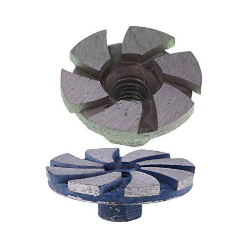 Harilla Molinillo de Disco de Rueda de Taza de Molienda de Segmento de Diamante de 2 Piezas, Piedra de Granito de Hormigón