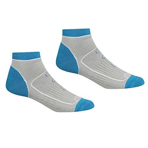 Regatta Damen Samaris Trail Socken, Damen, Socken, RWH044, LightSteel/NiagraBlue, 39-41