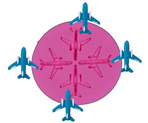 Mini Airplane Silicone Mold for Sugarcraft Cake Decorating, Cupcake Topper, Jewelry Making,Epoxy Resin, Polymer Clay ,Fondant,Gum Paste