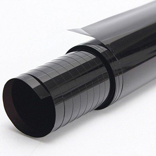 FuTaiKang Fenster Film Sun Tint Film Auto Glas Explosionsgeschützte Solar Screen Isolierung Fenster Film Dach 3 mt x 50 cm schwarz (15%)