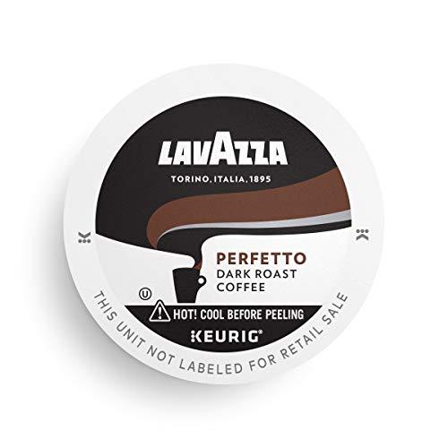 Lavazza Perfetto Single-Serve Coffee K-Cups for Keurig Brewer, Dark and Velvety Espresso Roast, Box Net WT 5.5 Oz, Perfetto, Dark Roast, 16 Count