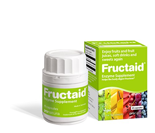 Fructaid for Fructose Malabsorption & Fructose Intolerance - Fructaid Helps The Body to Digest Fructose from Fruits, Vegetables and Other Foods containing Fructose, Like Sucrose and HFCS, 45 Capsules