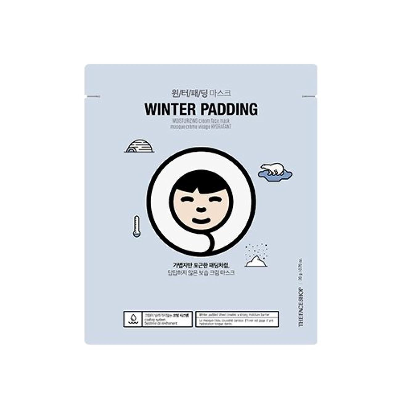 作り贅沢努力するTHE FACE SHOP Winter Padding Cream Mask (5EA) (1. Moisturizing Cream Mask) / ザフェイスショップ ウインター パッディング クリームマスク(5枚) [並行輸入品]
