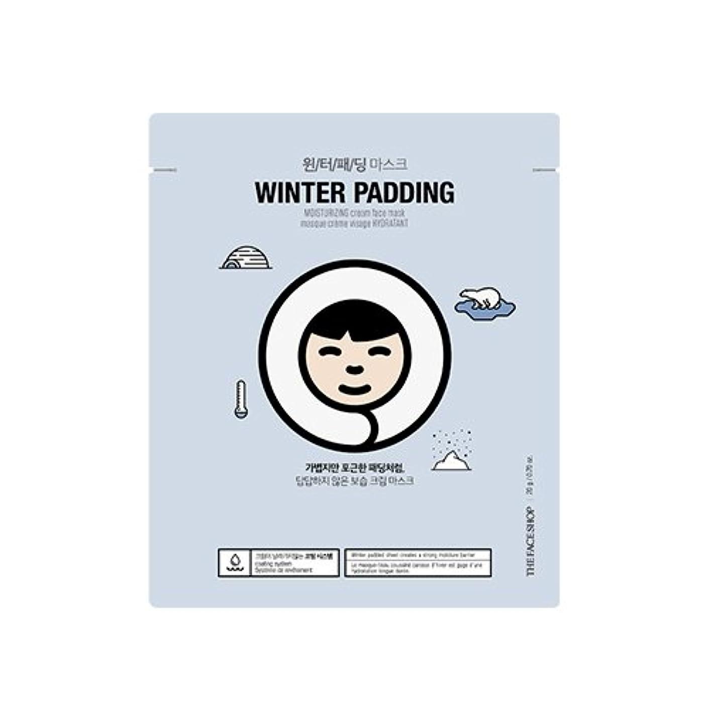 火炎顕微鏡マニフェストTHE FACE SHOP Winter Padding Cream Mask (5EA) (1. Moisturizing Cream Mask) / ザフェイスショップ ウインター パッディング クリームマスク(5枚) [並行輸入品]
