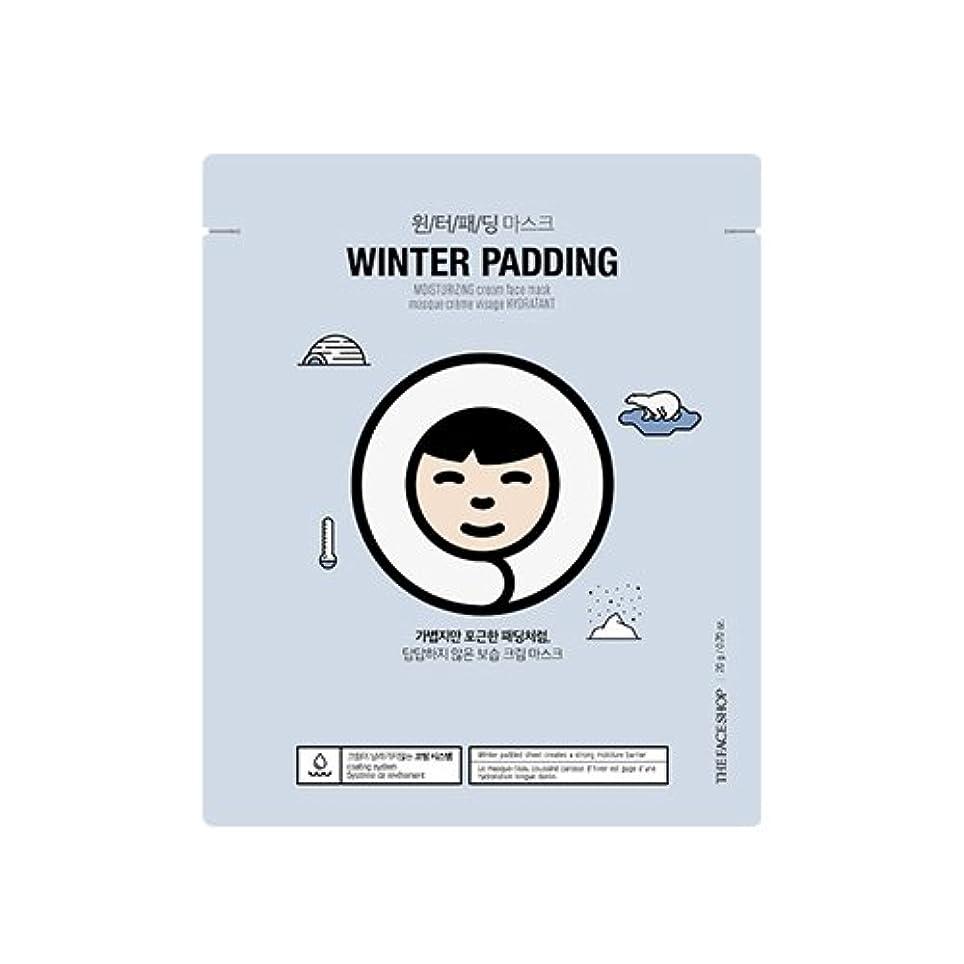 本体ボール目を覚ますTHE FACE SHOP Winter Padding Cream Mask (5EA) (1. Moisturizing Cream Mask) / ザフェイスショップ ウインター パッディング クリームマスク(5枚) [並行輸入品]