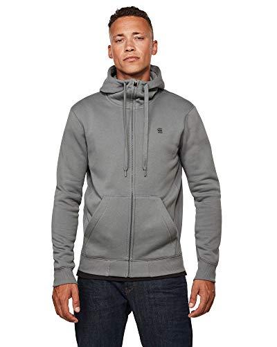 G-STAR RAW Mens Premium Core Hooded Zip Cardigan Sweater, lt Building C235-8166, XL