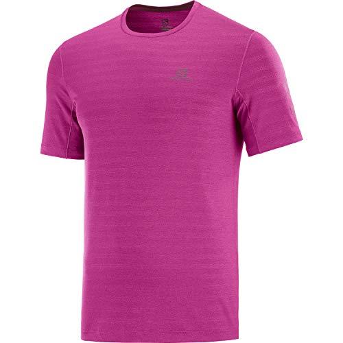 SALOMON XA tee M Hiking Shirt, Fuchsia Red, M Mens