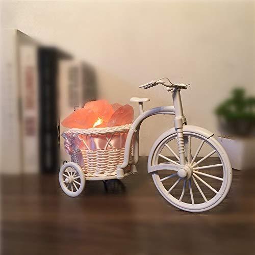 Creatieve rotan lamp voor fiets, zout, slaapkamer, kantoor, licht voor verjaardag, bruiloft, cadeau, klassieke E14, kantoor, tafellamp van hars