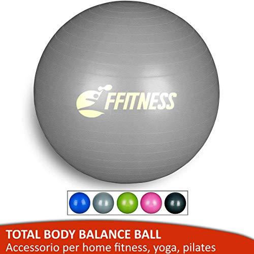 Balón de equilibrio total (55 65 75 85 95 cm). Pelota suiza grande para yoga, pilates, gimnasio en casa, fitness, embarazo, fortalecimiento y gimnasia.