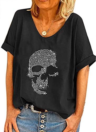 Camiseta Holgada de Gran tamaño de...