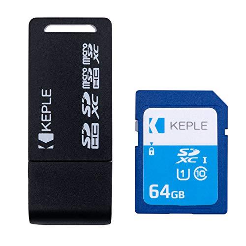 64GB Tarjeta de Memoria SD con Lector USB Adaptador Compatible con Sony Cybershot DSC-WX220 DSC-WX350 DSC-W800 DSC-HX350 DSCW830 WX350 DSC-W800 DSC-W710 DSC-W730 DSC-HX200V DSC-HX20V Camara Digital