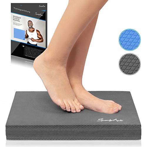 SportyAnis® Balance-Pad inkl. Übungsheft - Innovatives Balance-Kissen zur Stärkung der Tiefenmuskulatur und Steigerung von Balance, Stabilität und Gleichgewicht (Grau)