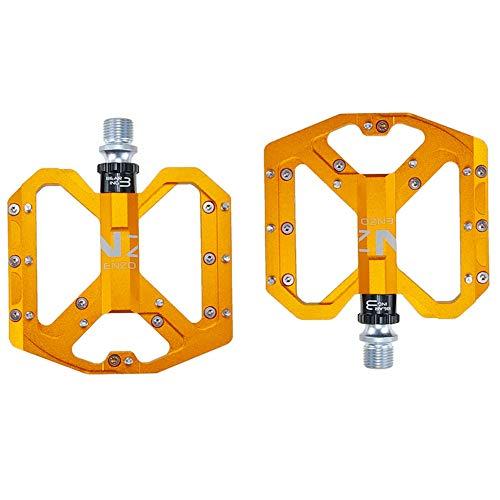 SIRUL Pedales de Bicicleta, Pedales de Bicicleta de Aluminio duraderos Antideslizantes, con...