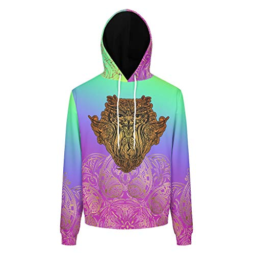 Dofeely 3D print unisex mannen hoodie sweatshirts lange mouwen licht sport trui met zakken