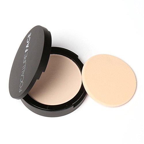 Face powder makeup Viso Cipria Fondotinta, fondotinta d'abbronzatura impermeabile bronzato del viso di polvere pressata naturale asciutta di sguardo(2#)