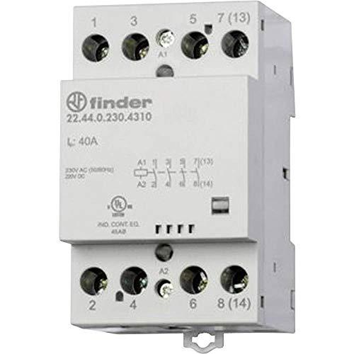 Finder serie 22 - Contactor modular 4 contacto 40a 230v contacto abierto mecanismo