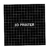 JRUIAN Accesorios de Impresora Pegatinas de Plataforma de Cama de Calor de Impresora 3D de 1 Pieza 400 400 mm Negro
