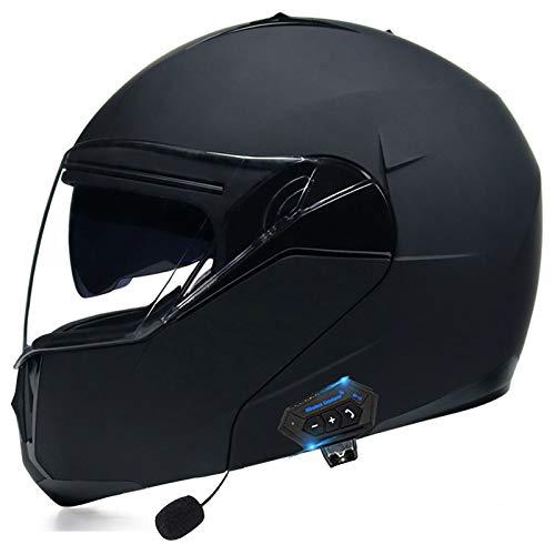 YLXD Cascos Modulare Integral Doble Lente Y Auricular Bluetooth Casco Seguridad Material ABS para AutomóVil EléCtrico Que Se Puede Abrir Y Cerrar VentilacióN Certificado ECE C,M