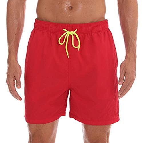 LVLUOKJ Bañador para hombre, de secado rápido, para playa, con forro de malla y bolsillos (color 2, tamaño: 3XL)