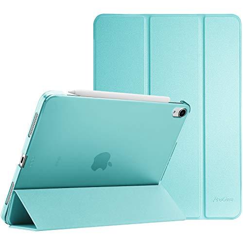 ProCase Hülle für iPad Air 4 Generation 10.9 Zoll 2020, Schutzhülle Case(Unterstützt 2. Gen iPencil Aufladen), Ultra Dünn Leicht Ständer Schal Smart Cover mit Transluzent Frosted Rück -Aqua