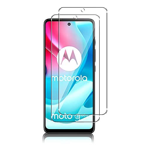 QULLOO Panzerglas Schutzfolie kompatibel mit Motorola Moto G60S,[2 Stück] HD Klar Bildschirmschutz Folie Blasenfrei Anti-Scratch Ultra Dünn Bildschirmschutzfolie - Transparent