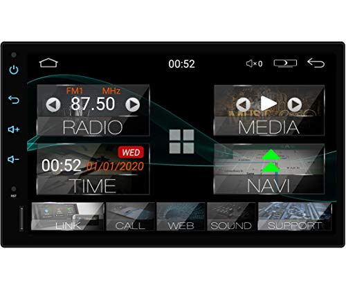 "Tristan Auron BT2D7018A Android 10.0 Autoradio mit Navi - 7\"" Touchscreen GPS Bluetooth Freisprecheinrichtung I 32GB MirrorLink USB SD DAB Plus OBD 2 DIN"