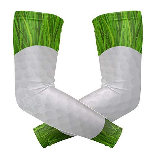 Lupinz Kompressions-Ärmel für Golfball auf Gras, UV-Schutz, Kühlung, Sonnenschutz für Outdoor-Sportarten, 1 Paar