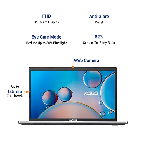 ASUS VivoBook 14 (2020) Intel Core i5-1035G1 10th Gen 14-inch FHD Thin and Light Laptop (8GB/1TB HDD/Integrated Graphics/Windows 10/MS Office 2019/Transparent Silver/1.6 kg), X415JA-EK085TS