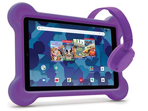 RCA Android Tablet Bundle (10″ Tablet, Audio Books, Bumper Case, Headphones)...