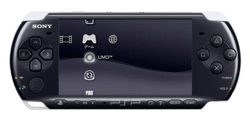 Sony PSP Slim and Lite 3000 Series Handheld Gaming Console with 2 Batteries (Renewed) (Black)
