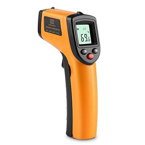 Infrared Thermometer, Non-Contact Digital Thermometer Temperature Gun w Laser Hand Tool For Indoor/Outdoor, -58℉~716℉ Lasergrip Reading, AC Units Heater Check, AAA Battery Not Include, 1