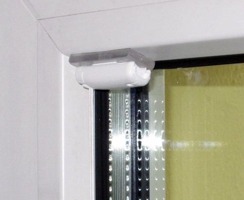 Stick & Fix - 4 Klebeplatten für Plissees - Plissees in der Glasleiste ohne zu Bohren montieren