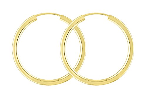 Ohrringe, Creolen, Gelbgold 333 / 8K, Außendurchmesser 30 mm, Breite 2.5 mm, Gewicht ca. 2.8 g