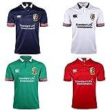 JUNBABY Coupe du Monde 2018 Irlande Lions Maillot De Rugby, 2017 T-Shirt De Match De Football Irlandais, Polo pour Homme-White-L