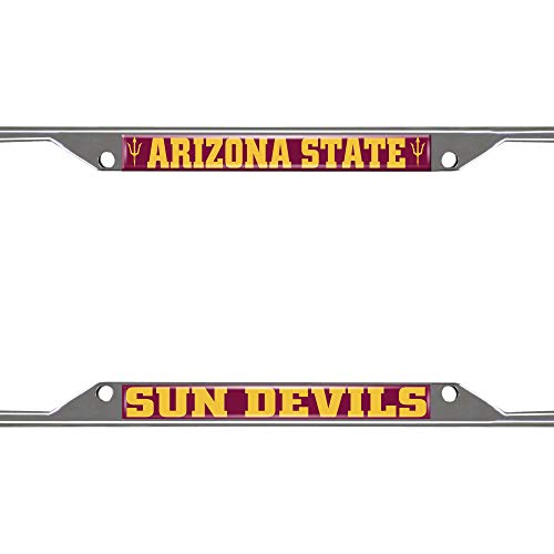 FANMATS Unisex's License Plate Frame Arizona State University, Team Colors, One Size