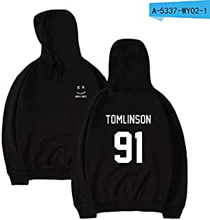 25 STYLES Man rock hoodie Louis Tomlinson 91 One Direction One Direction 1D street hooded circular collar hooded winter hoodies unisex Printing Slim Fit Men/women top coat Hoodie