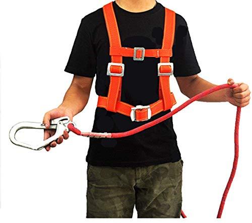 ZWWZ Klettern Sicherheitsgurt mit Karabiner-Sicherheitsgurt-Climbing-Feuer-Rettung, Klettern und Downhill Ausrüstung HAIKE (Color : Ropelength3m)